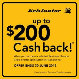 WARM UP WITH KELVINATOR KSD70HRG 7KW INVERTER SPLIT SYSTEMS Caboolture Caboolture Area Preview