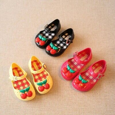 Jelly Shoe For Girl Toddler Cherry Dress Shoe Fruit Rain Boot Red Yellow Sandal ](Red Boots For Girl)