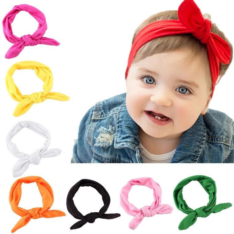 Baby Kinder Stirnband Haarband Knoten Schleife Junge Mädchen Haarschmuck Kopf