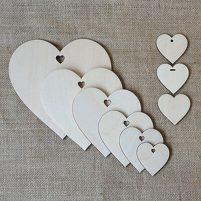 Wooden LOVE HEARTS  Wedding Wish Tree Decorations Gift Tags Celebrations Craft