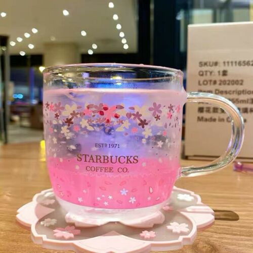 Starbucks Color-changing Sakura Glass Coffee Mug Korea Milk Cups Limited Edition
