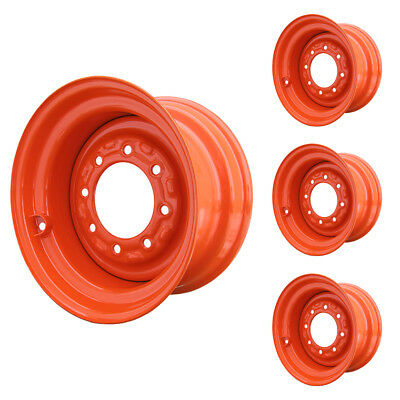 Set Of 4 - 8 Lug Bobcat 773g Skid Steer Wheels 8.25x16.5 Fit 10x16.5 Tires