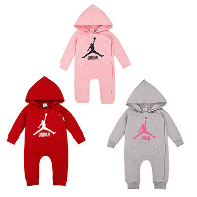 New Outfit 2019 (2019 BABY JORDAN 23 ROMPER +HAT BOY GIRL LONG SLEEVE BABYGROW OUTFITS SET 0-18)