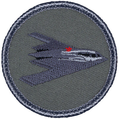 Cool Boy Scout Patch    319A  Stealth Bomber  Grey Background  Patrol