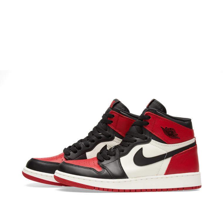 4de2428edb8 ... Nike Air Jordan Retro I 1 High OG 2018 Bred Toe Gym Red Black White  575441