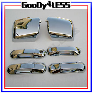 07 10 Ford Explorer Sport Trac Mountaineer Chrome Mirror Door Handle Covers Set
