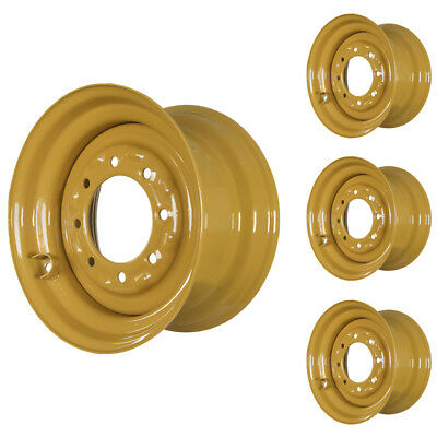 Set Of 4 - 8 Lug Case 1845 Skid Steer Wheels 9.75x16.5 Fit 12x16.5 Tires