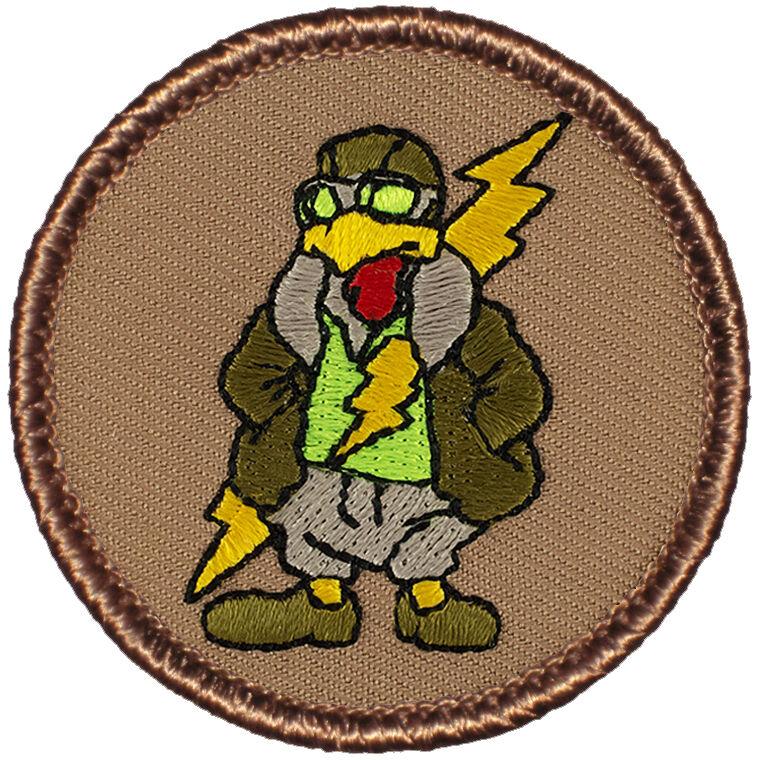 Fun Boy Scout Patches - Chicken Aviator Patrol! (#518)