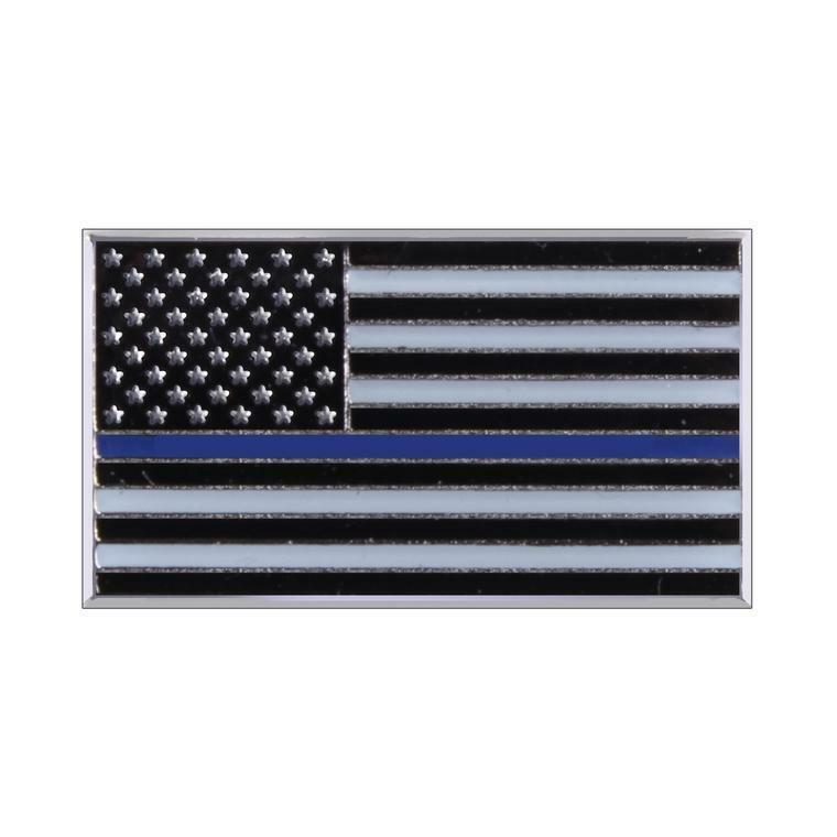 Rothco Lapel Pin Thin Blue Line Flag Police Law Enforcement Support #1967
