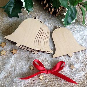 Wooden-BELLS-Wedding-Christmas-Birch-Blank-Decoration-Shape-Tags-Art-Craft-x10