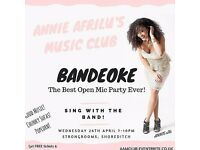 OPEN MIC WITH BAND TONIGHT SHOREDITCH STRONGROOMS