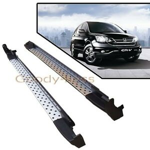 07-11 Honda CRV Silver Running Boards Pair Set Side Step OE Style Aluminum Bar