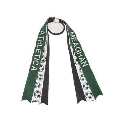 Personalized Embroidered Soccer Hair Streamers - Personalized Streamers