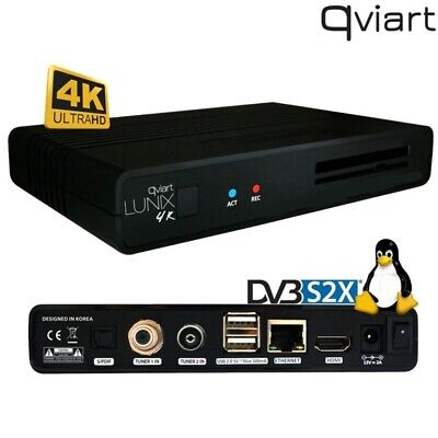 Receptor satélite combo Lunix 4K de Qviart