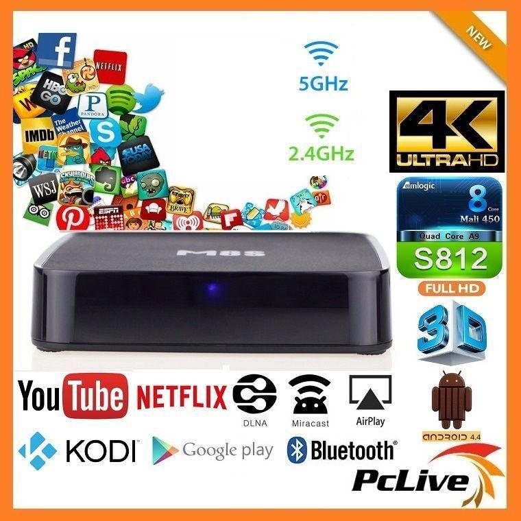 MiiBox Quad Core A9 Android TV Box 2GB RAM 8GB HD 4K Media Player HDMI KODI  WIFI