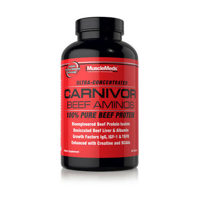 MuscleMeds CARNIVOR BEEF AMINOS 100% Pure Beef Protein 300 Tabs BCAAs