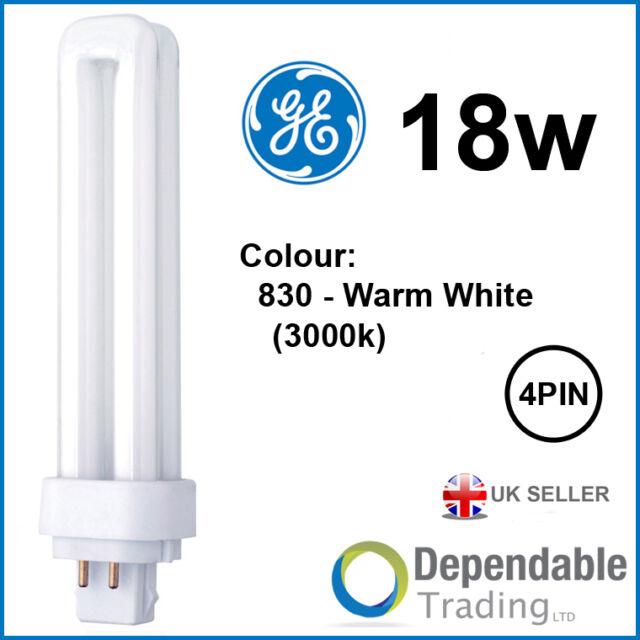GE 18w Biax D/E Energy Saving 4-PIN - Warm White - G24q-2 F18DBX/SPX30/830/4P DE