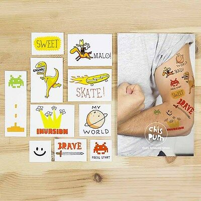 os Temporary Tattoo 10 er pack Adventure für Kinder cool NEU (Coole Kinder Tattoos)