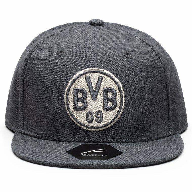 FI Collection Dortmund Platinum Snapback Hat - Heather Black