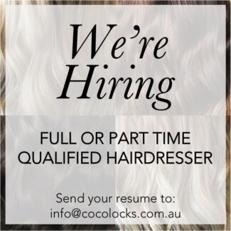 Qualified hairdresser wanted!