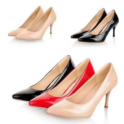 - Womens Stilettos High Heel Shoes Pointy Toe Shallow Slip on Loafer Pumps Casual