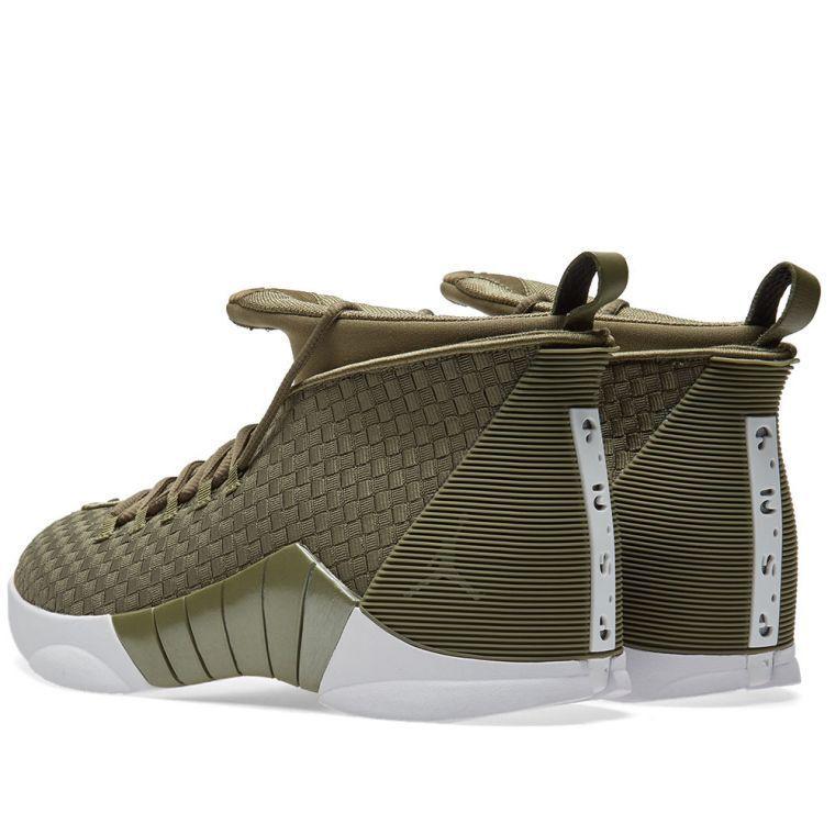 d52f07c4a5446c Nike Air Jordan 15 XV Retro PSNY Woven Olive Green Size 9. ao2568-200 ...