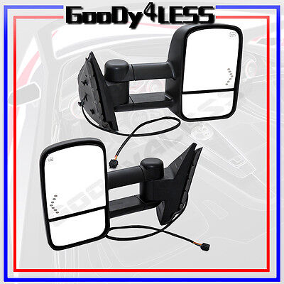 07-13 Silverado Sierra Tahoe Pickup Towing Mirrors Power Heated W/LED Signals