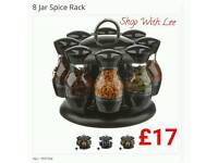 8 Jar Spice Rack