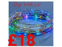 Multi coloured wired lights set of 100