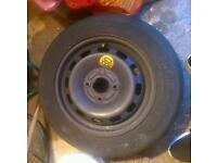 Ford fiesta ** 55 plate** spare wheel **tyre worn**