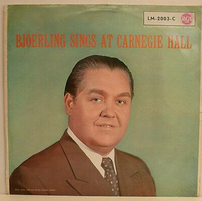 """JUSSIE BJOERLING SINGS AT CARNEGIE HALL 12"""" LP (e469)"""