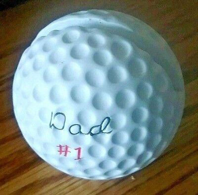 Desk Accessory Business Card Memo Holder 1 Dad Golf Ball