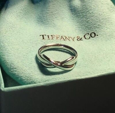 Tiffany & Co Infinity Ring Silber (Gr. 46)