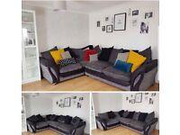 Grey Dfs corner sofa . Still £2999 in shop new