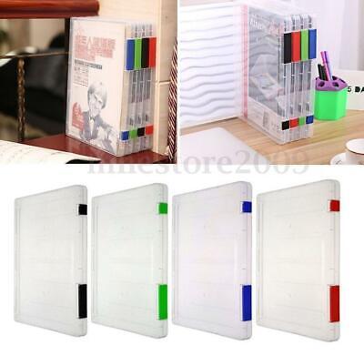 A4 Files Plastic Office Document Case Storage Box Holder Paper School Organizer