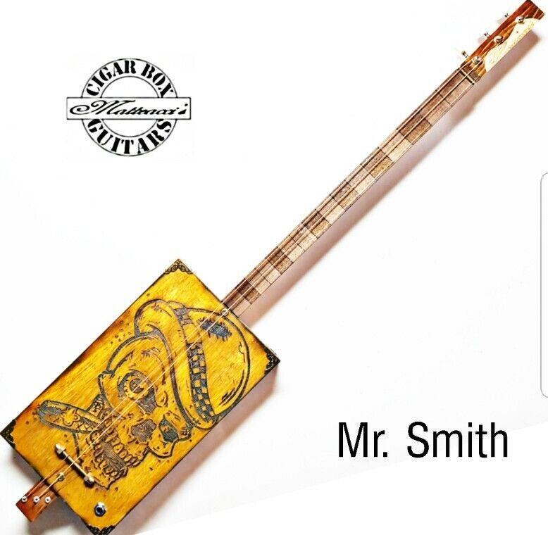 Mr Smith Cigar Box Guitar 3T-P by Robert Matteacci