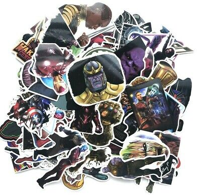 10 Different MARVEL AVENGERS Vinyl Stickers Indoor Outdoor Use RANDOMLY SELECTED](Marvel Stickers)