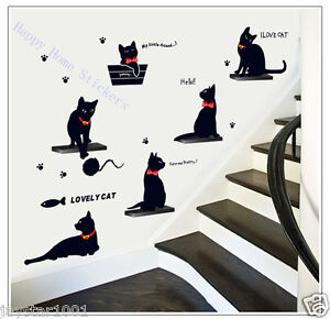 I-Love-CATS-Animals-ART-DECAL-Wall-Stickers-for-Childrens-Room-Stylish-Home