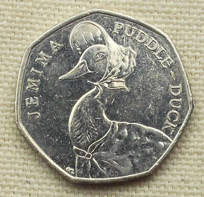 JEMIMA PUDDLE-DUCK 50p coin * 2016 * Circulated (0X84t)