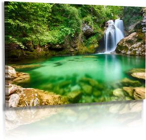 Wasserfall Poster ZEN Feng Shui Naturbild Landschaft Steine - Plakat 50 x 70 cm