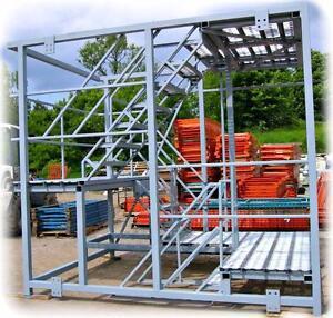 Paliers d'échelles - Structure en acier - Escaliers Plateforme - Blocs surmontables