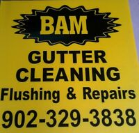 GUTTER REPAIRS AND CLEANING- GUTTERS DRIPPING IN BACK FIXED.