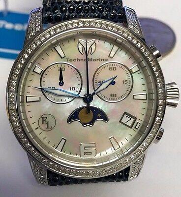New Technomarine 416017 Eva Longoria Collection Sun Moon Dark Blue Watch