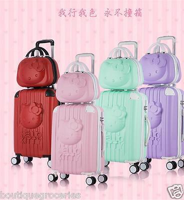 1pc Lovely Cartoon HelloKitty Pull Rod Box Luggage Student Suitcase Wedding Item
