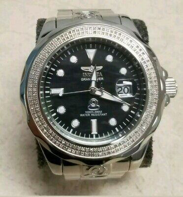 Invicta Grand Diver 27634 diamond bezel black mop dial.exquisite! Make an offer!