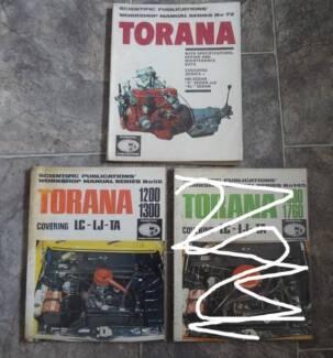 TORANA HB, LC, LJ, TA WORKSHOP MANUALS (2)