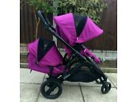 Britax B-Dual double / twin Pushchair/buggy/ Excellent condition QUICK SALE
