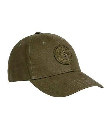 BRAND NEW green or blue stone Island baseball cap .