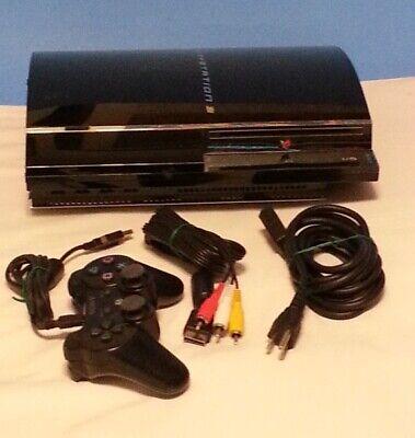 Sony Playstation 3 CECHA01 Fat 60GB w controller, cord, AV