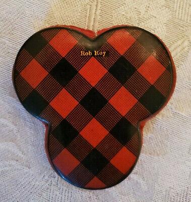 Rare Antique Victorian Tartan Ware Mauchline Clover Rob Roy Pin Cushion